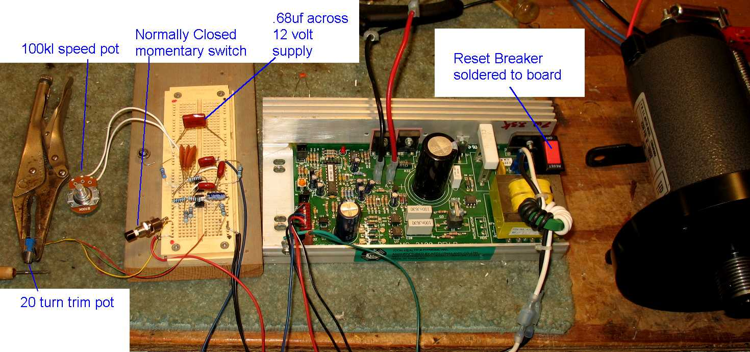MC-2100 Treadmill Motor sd control circuit on