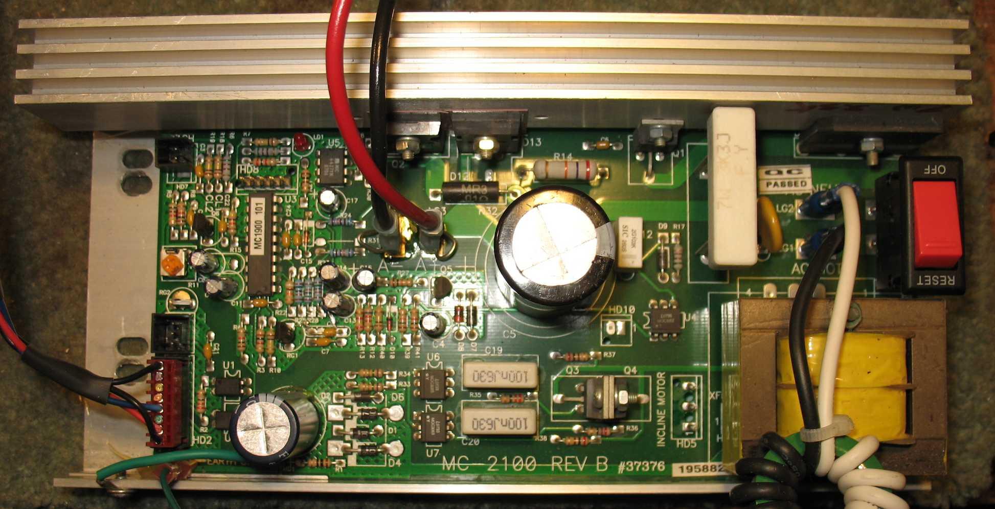 MC-2100 Treadmill Motor speed control circuit