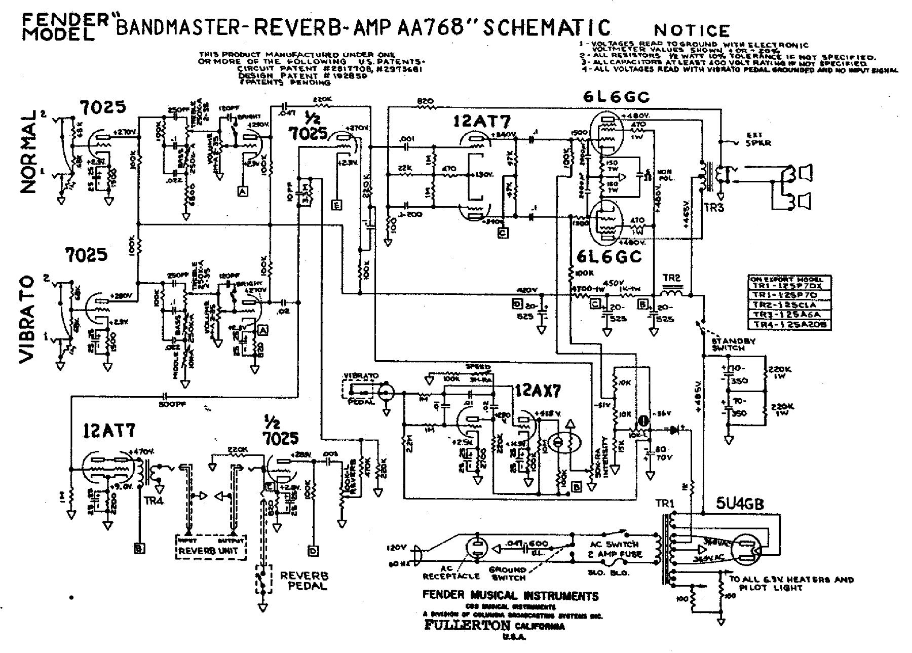 Fender Amp Wiring Diagrams   Fusebox and Wiring Diagram layout ...