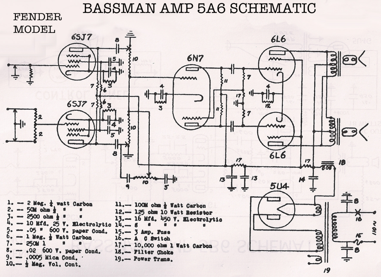 Fender Schematics - Tube amp Schematics on