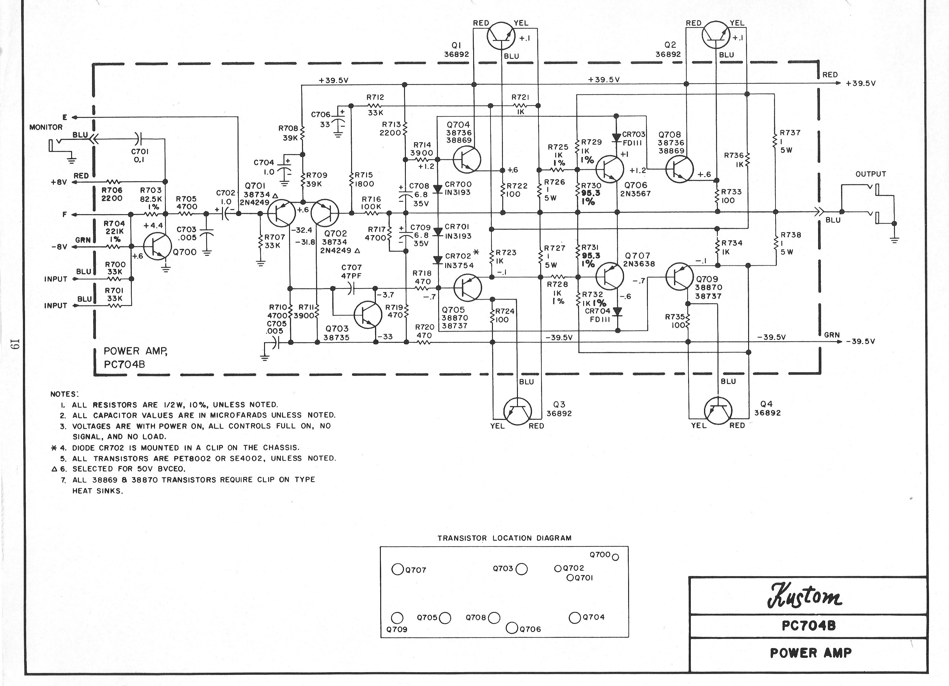 [DIAGRAM_34OR]  Kustom Schematics - Tube amp Schematics | Kustom Defender Schematic |  | EL34 World