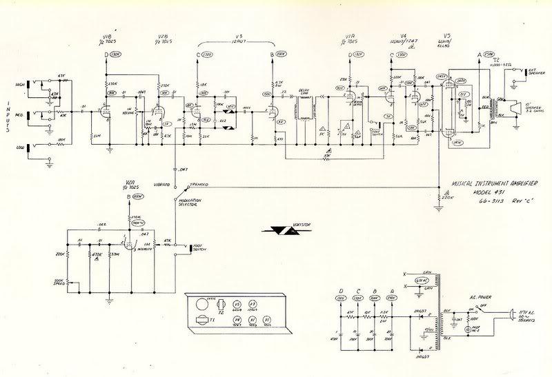 Magnatone Schematics - Tube amp Schematics on
