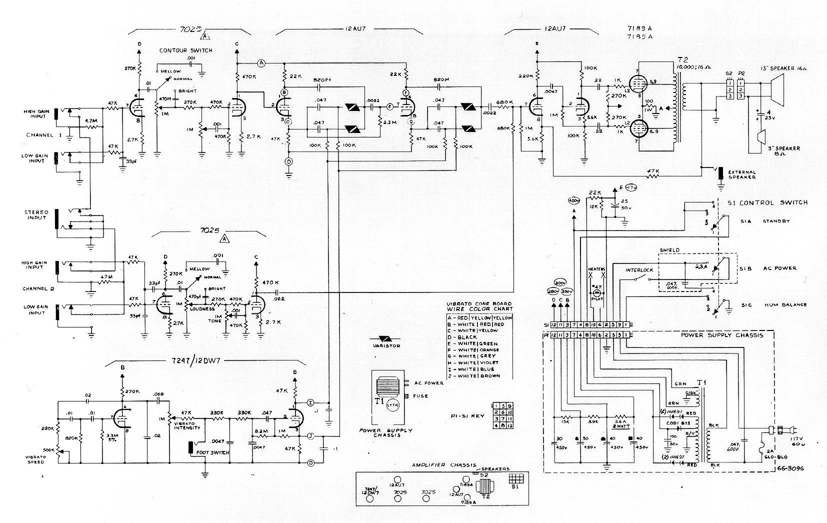 wrg 9423] magnatone amp schematic 1950s guitar amplifiers vintage magnatone amplifier schematic #12