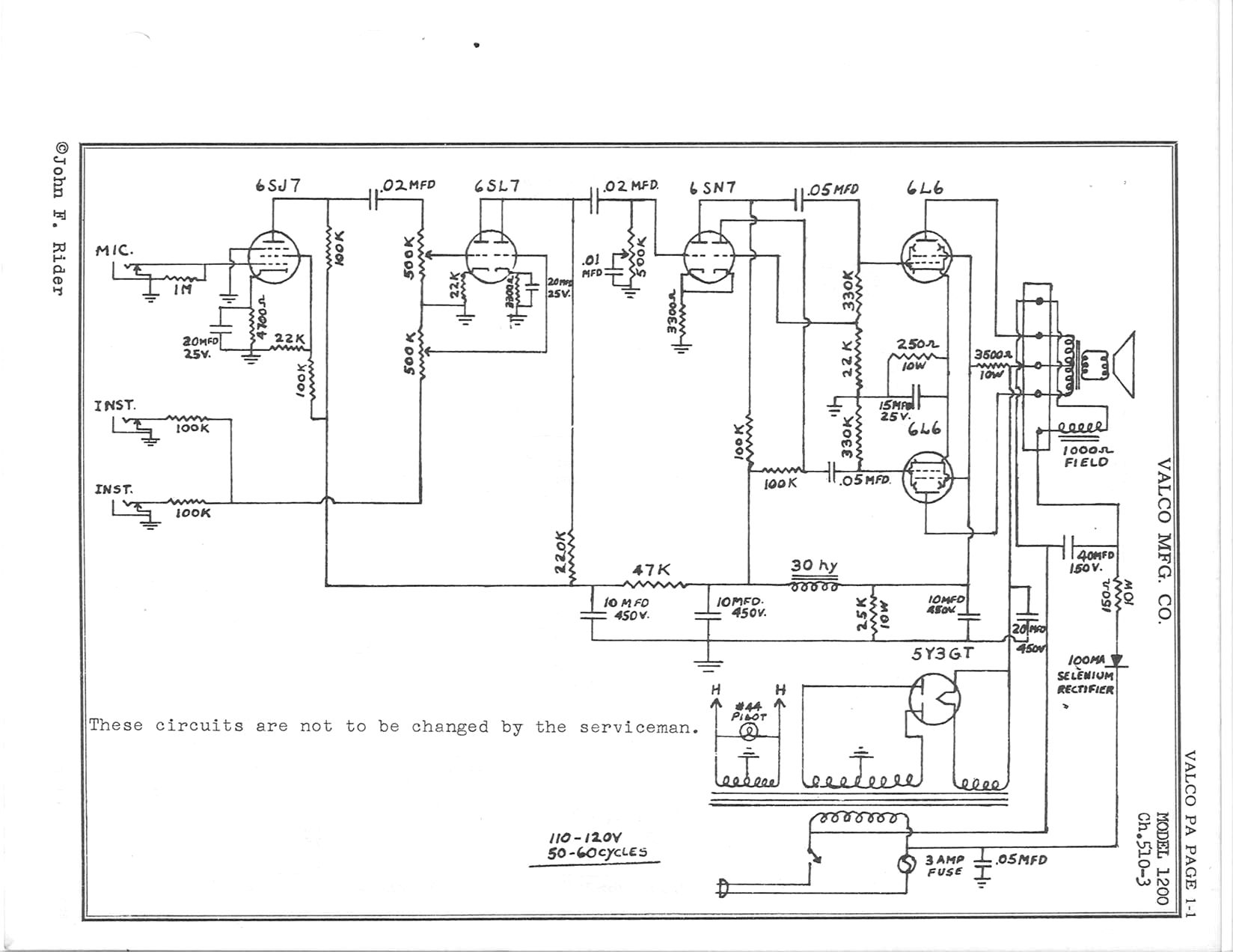 Valco Schematics Tube Amp Guitar Wiring Diagram