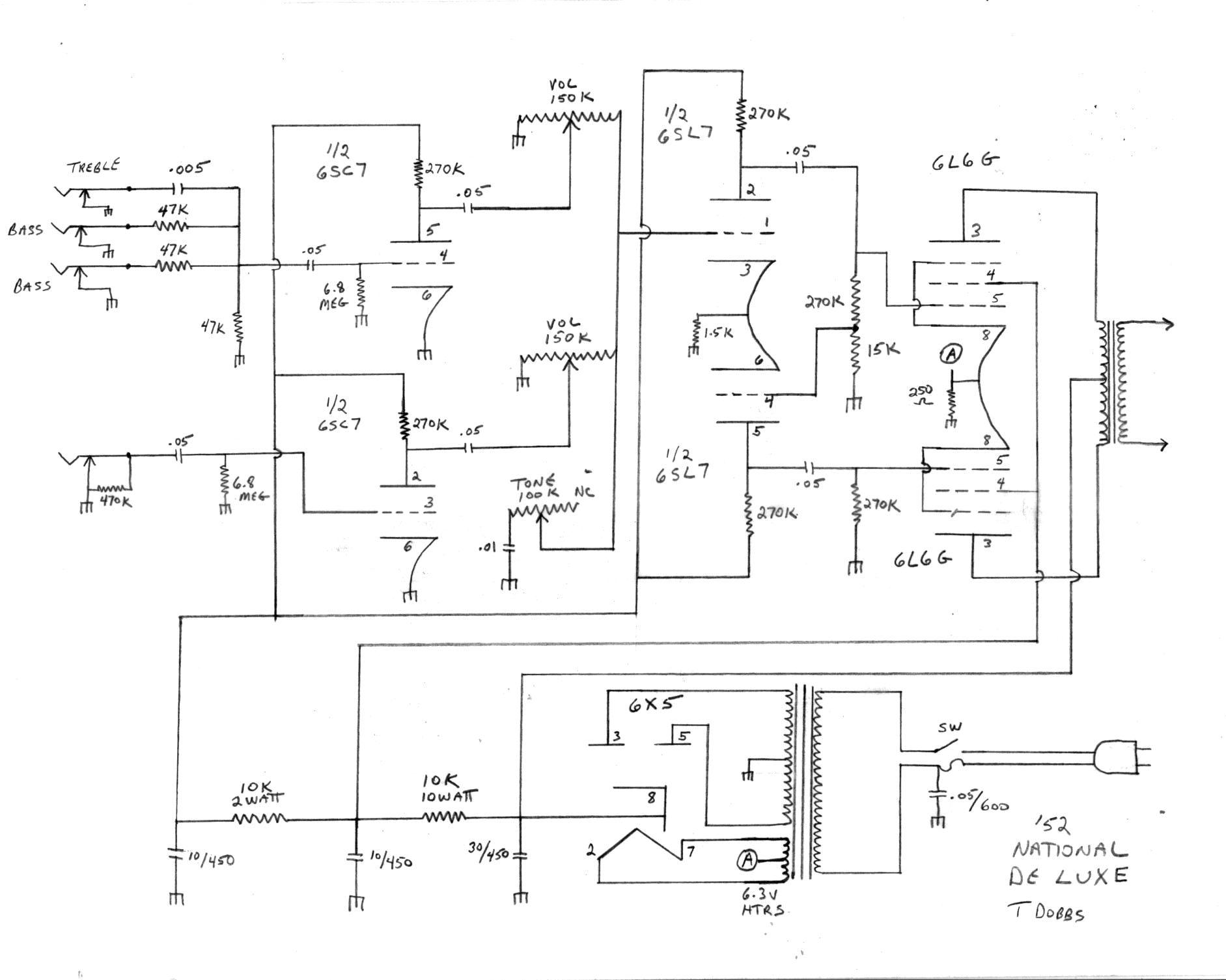 Valco Schematics - Tube amp Schematics