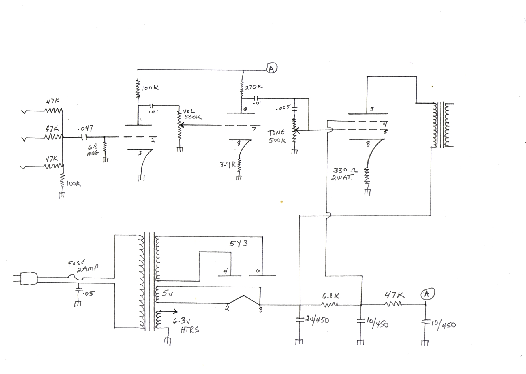 Valco Schematics Tube Amp Diagram 22 National Twin Tone 1210 1958 313 Kb